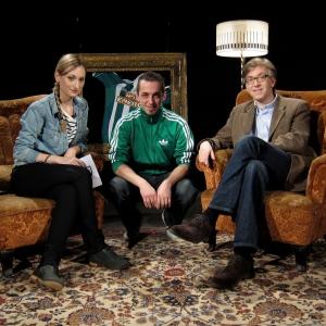 Kathi Lehner mit CvD Florian Tietze und Blogger Wolfgang Berger.
